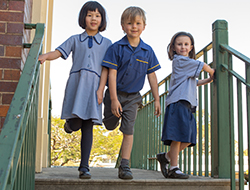 formal blue uniform is worn Mondays, Wednesdays and Thursdays